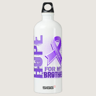 Hope For My Brother Hodgkins Lymphoma Aluminum Water Bottle