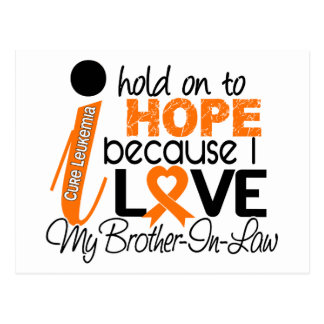 Hope For My Brother-In-Law Leukemia Postcard