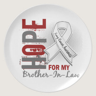 Hope For My Brother-In-Law Lung Cancer Melamine Plate