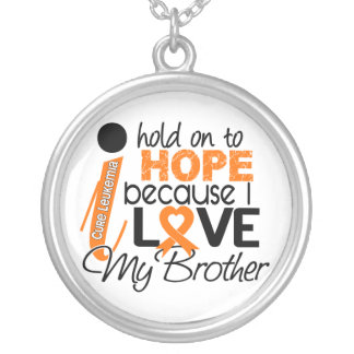 Hope For My Brother Leukemia Round Pendant Necklace