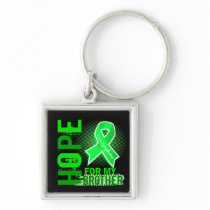 Hope For My Brother Lymphoma Keychain