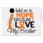 Hope For My Brother MS Multiple Sclerosis Greeting Cards
