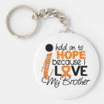 Hope For My Brother MS Multiple Sclerosis Keychain