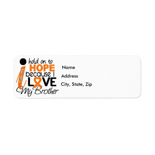 Hope For My Brother MS Multiple Sclerosis Return Address Label