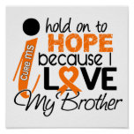 Hope For My Brother MS Multiple Sclerosis Print
