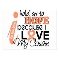 Hope For My Cousin Uterine Cancer Postcard