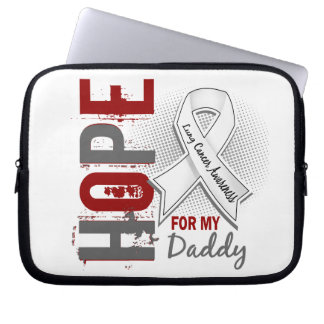 Hope For My Daddy Lung Cancer Laptop Sleeve
