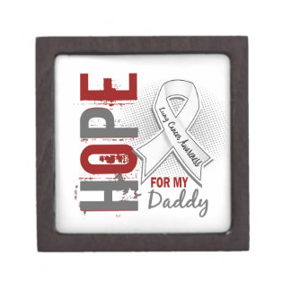 Hope For My Daddy Lung Cancer Premium Trinket Box