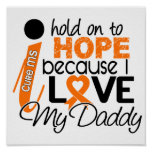Hope For My Daddy Multiple Sclerosis MS Posters