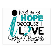 Hope For My Daughter Cervical Cancer Postcard