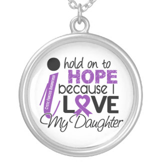 Hope For My Daughter Cystic Fibrosis Round Pendant Necklace