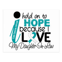 Hope For My Daughter-In-Law Cervical Cancer Postcard