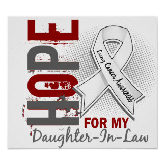 Hope For My Daughter-In-Law Lung Cancer Posters