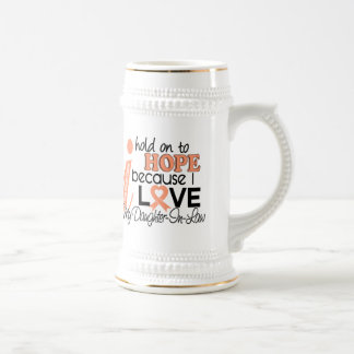 Hope For My Daughter-In-Law Uterine Cancer Beer Stein