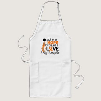 Hope For My Daughter Leukemia Long Apron