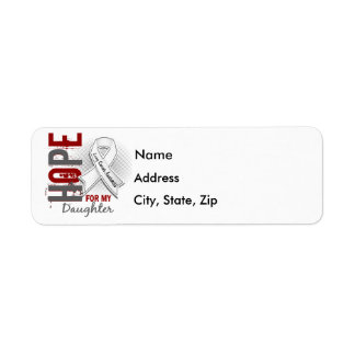 Hope For My Daughter Lung Cancer Custom Return Address Labels
