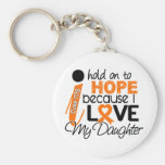Hope For My Daughter Multiple Sclerosis MS Basic Round Button Keychain