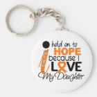 Hope For My Daughter Multiple Sclerosis MS Keychain