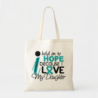 Hope For My Daughter Ovarian Cancer Tote Bag
