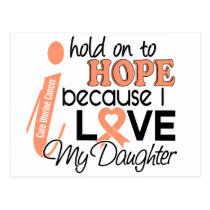 Hope For My Daughter Uterine Cancer Postcard