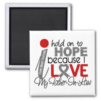 Hope For My Father-In-Law Brain Tumor 2 Inch Square Magnet
