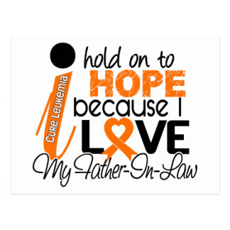 Hope For My Father-In-Law Leukemia Postcard
