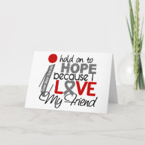 Hope For My Friend Brain Tumor Card
