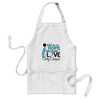 Hope For My Friend Cervical Cancer Adult Apron