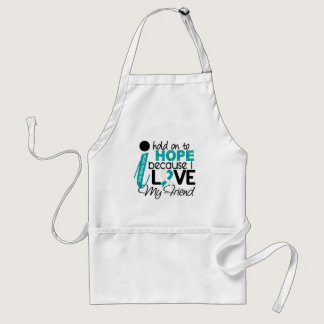 Hope For My Friend Cervical Cancer Adult Apron