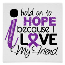 Hope For My Friend Cystic Fibrosis Poster