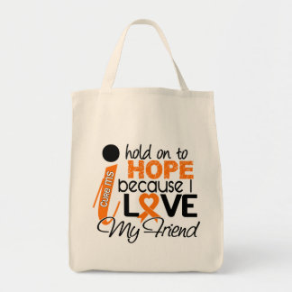 Hope For My Friend Multiple Sclerosis MS Tote Bags