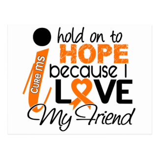 Hope For My Friend Multiple Sclerosis MS Postcard