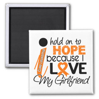 Hope For My Girlfriend Leukemia 2 Inch Square Magnet