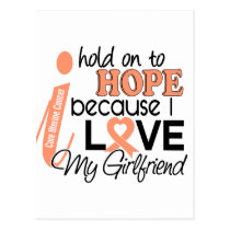 Hope For My Girlfriend Uterine Cancer Postcard