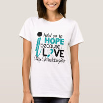 Hope For My Granddaughter Cervical Cancer T-Shirt
