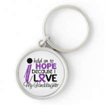 Hope For My Granddaughter Cystic Fibrosis Keychain