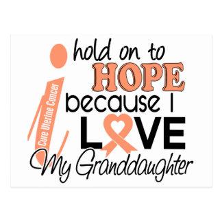Hope For My Granddaughter Uterine Cancer Postcard