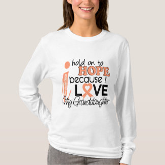 Hope For My Granddaughter Uterine Cancer T-Shirt