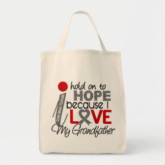 Hope For My Grandfather Brain Tumor Tote Bag