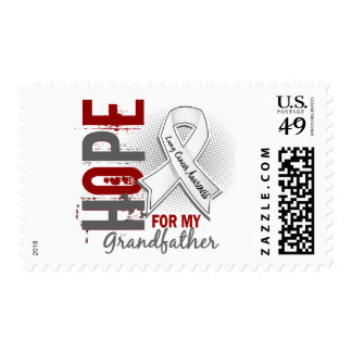 Hope For My Grandfather Lung Cancer Postage