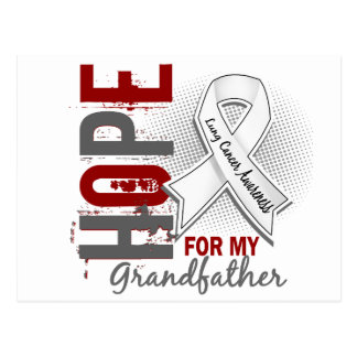 Hope For My Grandfather Lung Cancer Postcard