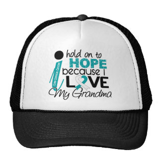 Hope For My Grandma Cervical Cancer Trucker Hats