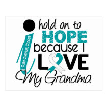 Hope For My Grandma Cervical Cancer Postcard