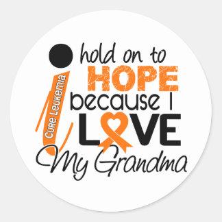 Hope For My Grandma Leukemia Sticker