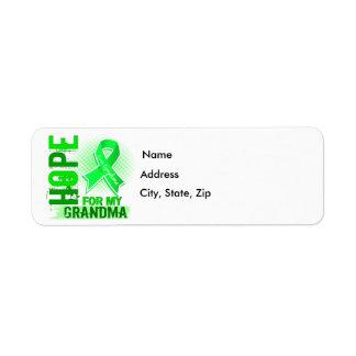 Hope For My Grandma Lymphoma Label