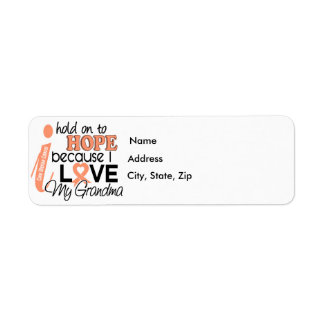 Hope For My Grandma Uterine Cancer Label