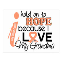 Hope For My Grandma Uterine Cancer Postcard