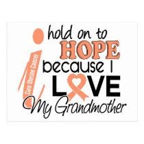 Hope For My Grandmother Uterine Cancer Postcard