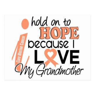 Hope For My Grandmother Uterine Cancer Postcard