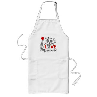 Hope For My Grandpa Brain Tumor Long Apron